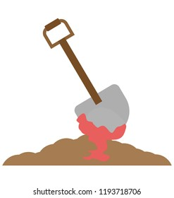 halloween spade, bloody spade Color Isolated Vector icon which can be easily edit or modified