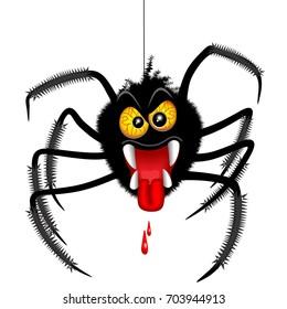 Halloween Spider Spooky Cartoon Character