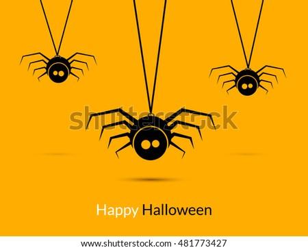 halloween spiders design poster template happy stock vector royalty