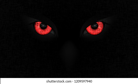 Halloween staring scary spooking evil Owl eyes on dark Halloween staring scary spooking evil Owl eyes on dark grunge background