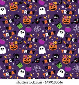 Halloween sweet candy seamless pattern background
