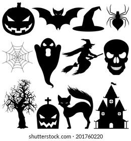 Halloween symbols.