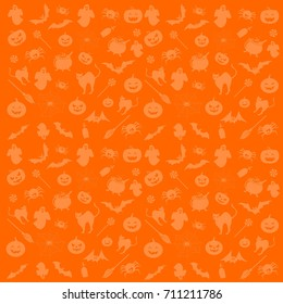 Halloween symbols for background