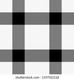 Halloween Tartan plaid. Scottish pattern in black and white cage. Scottish cage. Traditional Scottish checkered background. Seamless fabric texture. Vector illustration
