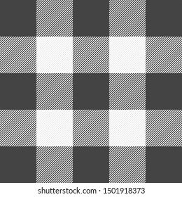 Halloween Tartan plaid. Scottish pattern in gray and white cage. Scottish cage. Traditional Scottish checkered background. Seamless fabric texture. Vector illustration