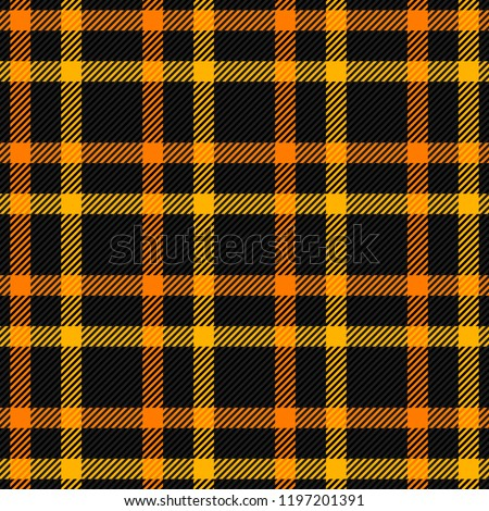 00d5eee31f Halloween Tartan plaid. Scottish pattern in orange, black, yellow and gray  cage. Scottish cage. Traditional Scottish checkered background.