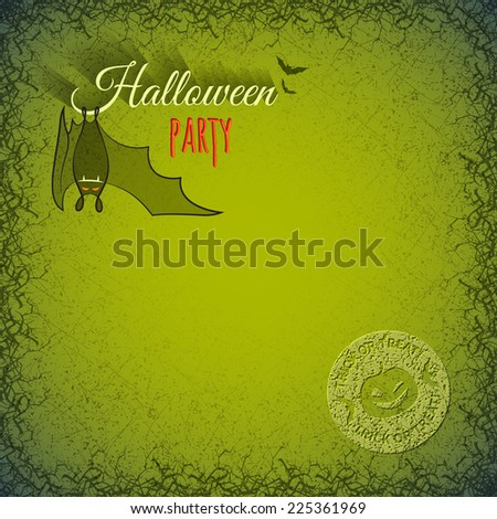 Halloween Template Hanging Bat Vampire On Stock Vector 225361969
