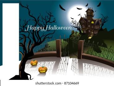 Halloween Terror House card