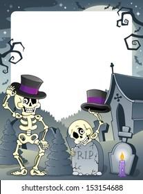 Halloween theme frame 3 - eps10 vector illustration.
