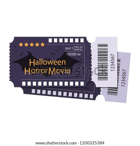 halloween ticket template ticket halloween party stock vector