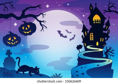 Halloween topic background 3 - eps10 vector illustration.