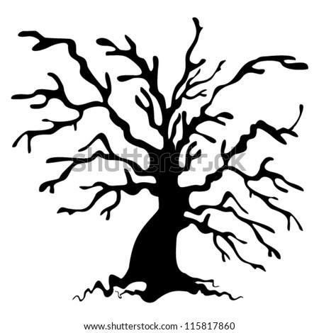 halloween tree tree silhouette