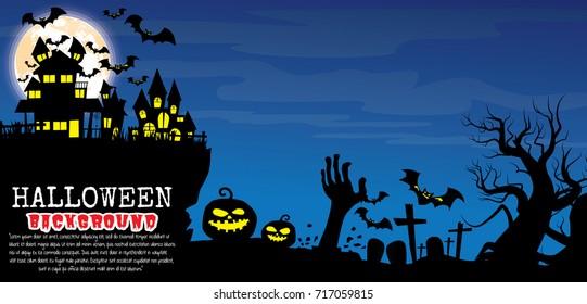 Halloween vector background.