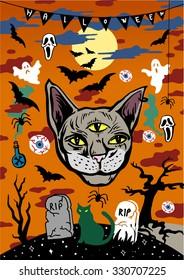 Halloween vector design