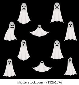 Halloween Vector Ghosts