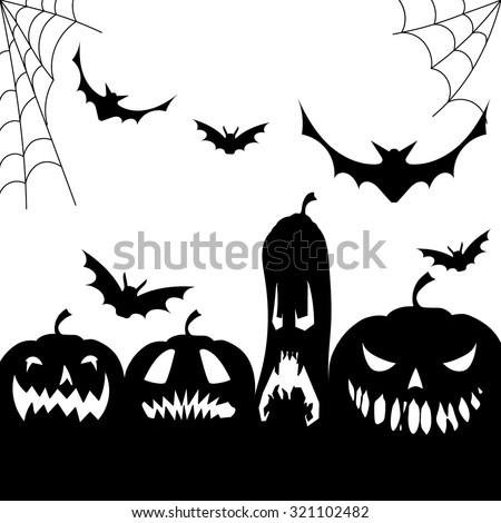 Halloween Vector Black And White.Halloween Vector Illustration Black White Stock Vector Royalty Free