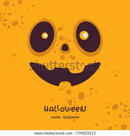 halloween vector illustration template posters holiday stock vector
