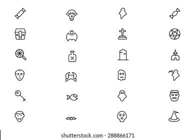 Halloween Vector Line Icons 4