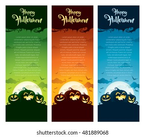 Halloween vertical banner set