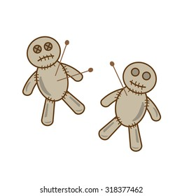 Halloween voodoo doll vector eps10