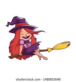 Witch On a Broomstick Images, Stock Photos & Vectors