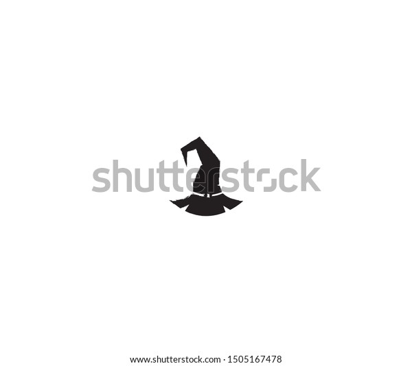 Halloween Witch Hat Icon Vector Design Stock Vector Royalty Free 1505167478