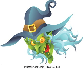 halloween witch head