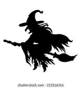 image regarding Witch Silhouette Printable identify Witch Silhouette Pictures, Inventory Pictures Vectors Shutterstock