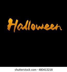 Halloween word isolated calligraphy