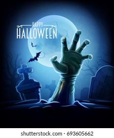 halloween zombie hand