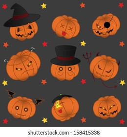 Halloween's Fancy Pumpkin Set