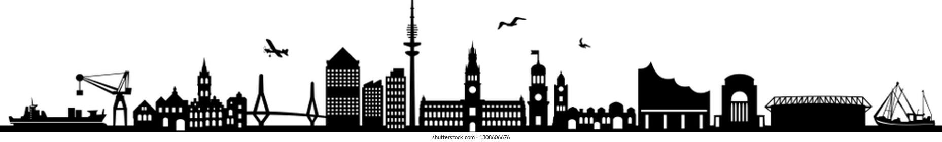 Hamburg City Skyline