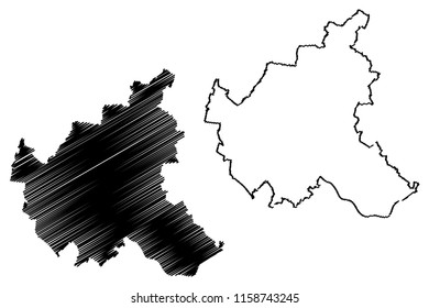 Hamburg (Federal Republic of Germany, State of Germany) map vector illustration, scribble sketch Free and Hanseatic City of Hamburg map