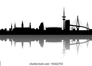 Hamburg Skyline abstract