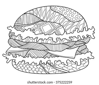 Food Coloring Pages Images Stock Photos Vectors