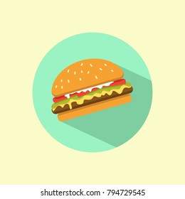 Hamburger icon with shadow