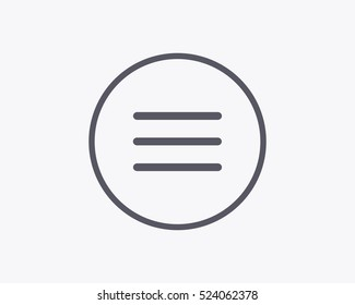 Hamburger Menu Icon - Vector illustration