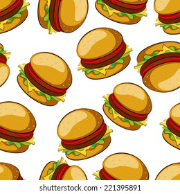 Hamburger seamless pattern vector illustration clip art
