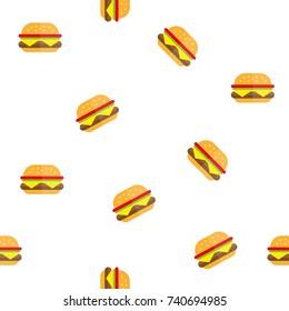 hamburger texture pattern fast food hamburger fast food icon flat burger flat vector illustration food and drink tasty burger summer picnic menu hamburger McDonald restaurant cafe menu cheeseburger