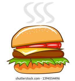 hamburger vector graphic clipart design