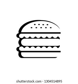 hamburger vector icon on white background