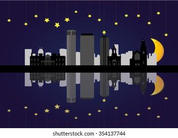 hamilton canada skyline at night