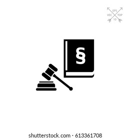 Hammer and Code of Laws Icon