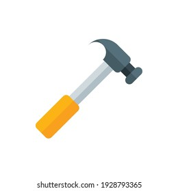 Hammer Flat Icon Logo Illustration Vector Isolated. Labour Day, May Day, Industry, And Construction Icon-Set. Suitable for Web Design, Logo, App, and Upscale Your Business.