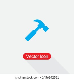 Hammer Icon, Carpenter Hammer Icon Vector Illustration Eps10