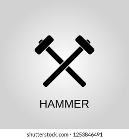Hammer icon. Hammer concept symbol design. Stock - Vector illustration can be used for web