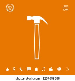 Hammer icon symbol. Graphic elements for your design