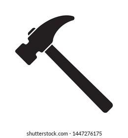 Hammer icon, hammer symbol, vector.