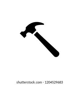 Hammer icon vector, flat icon hammer