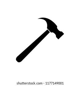Hammer icon  vector logo templae